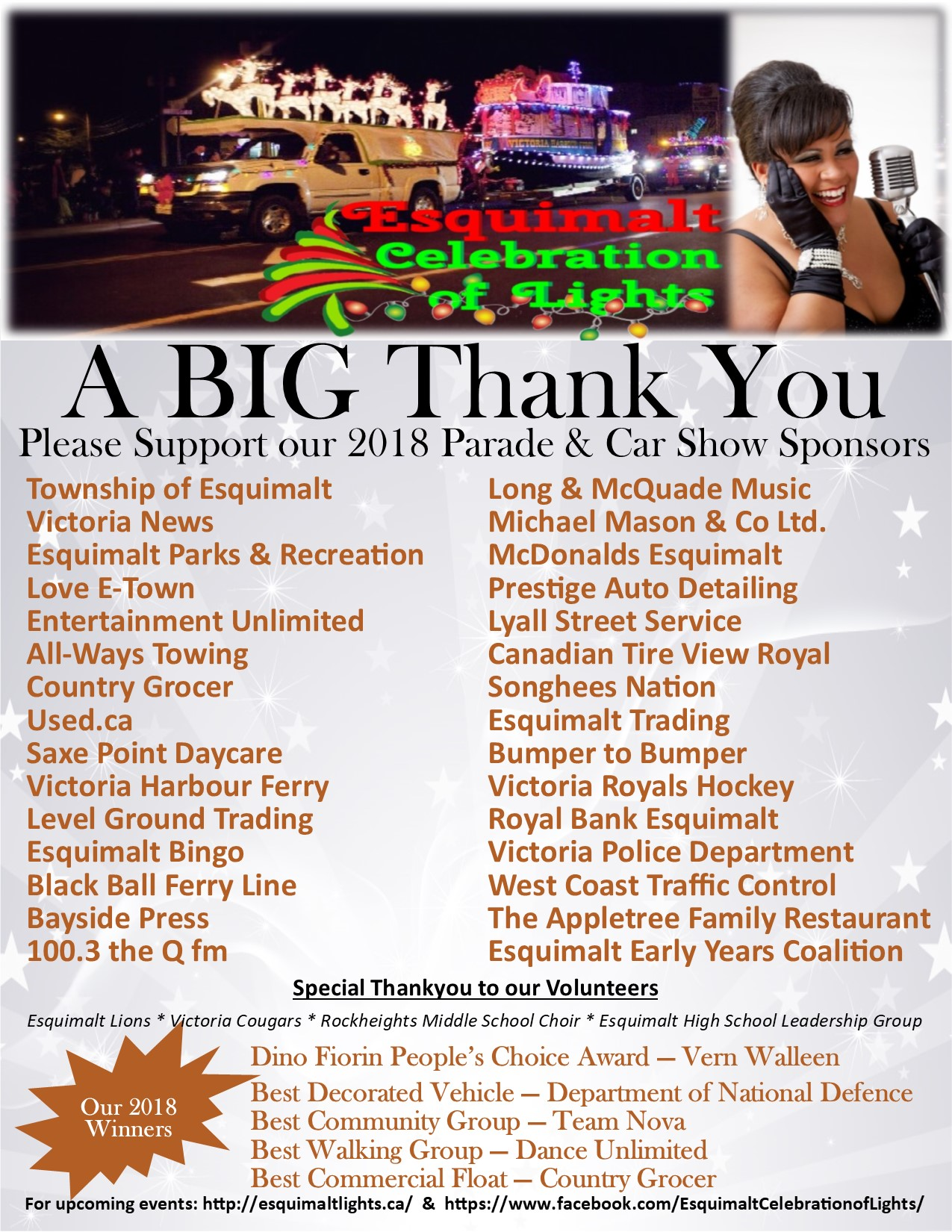 Thank you from Esquimalt Celebration of Lights